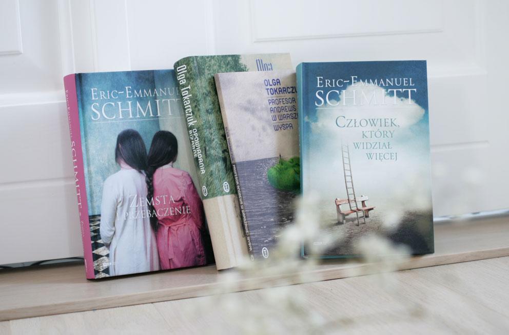 Książki Eric-Emmanuel Schmitt i Olga Tokarczuk